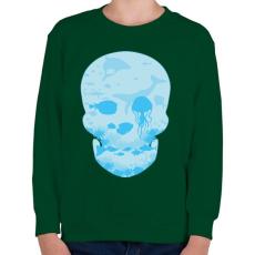 PRINTFASHION Halott tenger - Gyerek pulóver - Sötétzöld