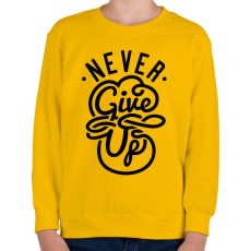 PRINTFASHION Ne add fel - Gyerek pulóver - Sárga