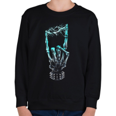 PRINTFASHION Elektro Heavy Metal - Gyerek pulóver - Fekete