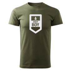 O&T rövid póló army boy, oliva 160g/m2