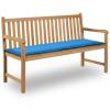 vidaXL kék kerti pad párna 150 x 50 3 cm