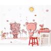Rózsaszín macik falmatrica