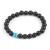 Meditációs karkötő fekete lávakővel és türkiz gyönggyel