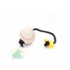 6 cm szivacs labda 30 cm zsinórral és műanyag T-fogóval