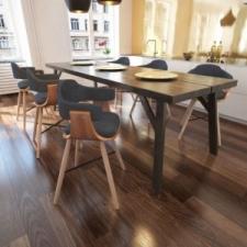 6 db hajlított fa étkezőszék szövet kárpitozással bútor