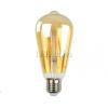 6W Edison dekor LED izzó (E27, filament, meleg fehér (2200K))