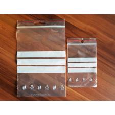 70 x 100 x 0,04 mm-es (7 x 10 cm-es) írható felületű simítózáras tasak papírárú, csomagoló és tárolóeszköz