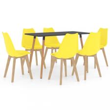 7 részes sárga étkezőszett bútor