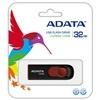 ADATA 32 GB Pendrive USB 2.0 C008 Capless Sliding (fekete-piros)