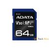 ADATA 64GB SD Premier Pro (SDXC Class 10 UHS-I U3) (ASDX64GUI3V30S-R) memória kártya