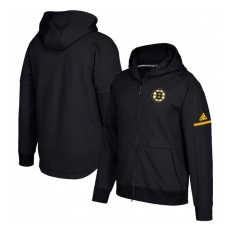 Adidas Boston Bruins fĂŠrfi kapucnis pulóver black Authentic Pro Squad ID Full-Zip Hood - L