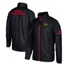 Adidas Chicago Blackhawks fĂŠrfi kabát black Authentic Rink Full-Zip Jacket - XXL