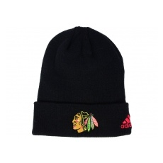 Adidas Chicago Blackhawks TĂŠli sapka adidas NHL Basic Cuff Knit BLK