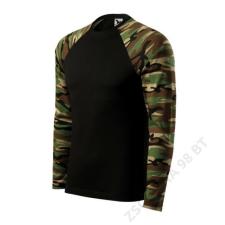 ADLER Camouflage LS Pólók unisex, terepszín barna férfi póló
