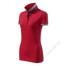 ADLER Collar Up MALFINI galléros póló női, formula red