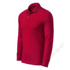 ADLER Contrast Stripe LS MALFINI galléros póló férfi, formula red