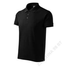 ADLER Cotton ADLER galléros póló férfi, fekete