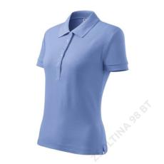 ADLER Cotton ADLER galléros póló női, égszínkék