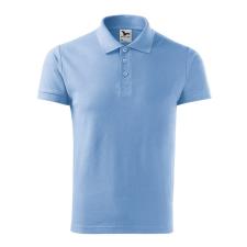 ADLER Férfi galléros póló Cotton Heavy - nebesky modrá / L férfi póló