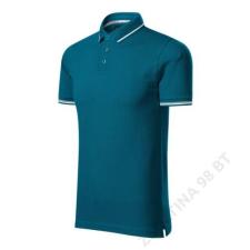 ADLER Perfection plain Galléros póló férfi, petrol blue férfi póló