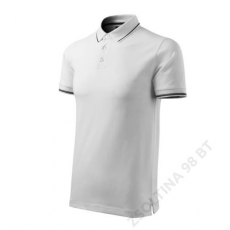 ADLER Perfection plain MALFINI galléros póló férfi, fehér