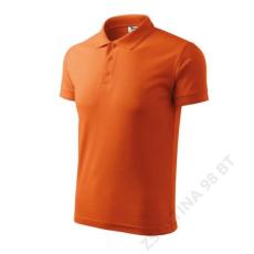 ADLER Pique Polo ADLER galléros póló férfi, narancssárga