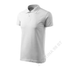ADLER Single J. ADLER galléros póló unisex, fehér