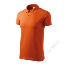 ADLER Single J. ADLER galléros póló unisex, narancssárga