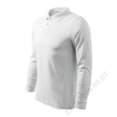 ADLER Single J. LS ADLER galléros póló férfi, fehér