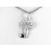 Agrianna Apró díszes kulcs ezüst medál