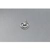 Agrianna Ezüst medál szív a szívben 4