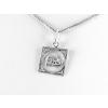 Agrianna Oroszlán csillagjegy ezüst medál, négyszögletes