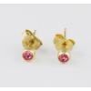 Agrianna Sárga arany bedugós szoliter rózsaszín köves fülbevaló