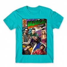 Agymenők férfi rövid ujjú póló - Bazinga Comics női póló
