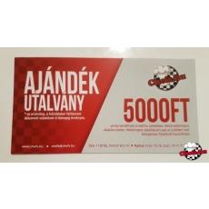 Ajándékutalvány - 5000, 10000 vagy 20000 Ft értékben