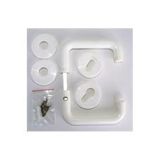 Ajtókilincs garnitúra univerzális műanyag fehér dekoráció