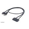 """Akasa Flexstor eSATA + USB - 2,5"""" SATA átalakító kábel"""