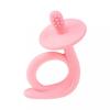 AKUKU Gyermek szilikon hűsítő rágóka Akuku Csiga rózsaszín