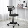 Alacsony háttámlás irodai szék, fekete