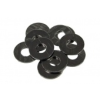 Alátét DIN 125 M3 fekete eloxált alumíniumból (10-es csomag)