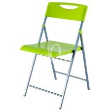 """ALBA Összecsukható szék, fém és műanyag, ALBA """"Smile"""" zöld tárgyalószék"""