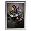 ALBA Plakáttartó, fali, A2, alumínium keret, ALBA, ezüst