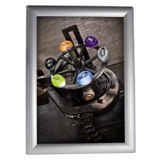 ALBA Plakáttartó, fali, A2, alumínium keret, ALBA, ezüst információs tábla, állvány