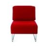 """ALBA Ügyfélváró szék, fém és szövet, ALBA """"Comfort"""", piros"""