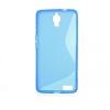Alcatel One Touch Idol X 6040, TPU szilikon tok, S-Line, kék