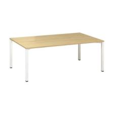 Alfa Office Alfa 420 konferenciaasztal fehér lábazattal, 200 x 120 x 74,2 cm, vadkörte mintázat% irodabútor