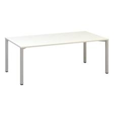 Alfa Office Alfa 420 konferenciaasztal szürke lábazattal, 200 x 100 x 74,2 cm, fehér mintázat% irodabútor