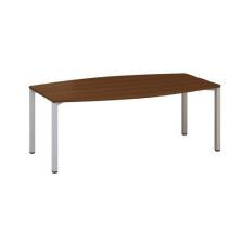 Alfa Office Alfa 420 konferenciaasztal szürke lábazattal, 200 x 110 x 74,2 cm, dió mintázat% irodabútor