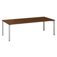 Alfa Office Alfa 420 konferenciaasztal szürke lábazattal, 240 x 100 x 74,2 cm, dió mintázat% irodabútor