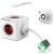 Allocacoc PowerCube Extended 1,5m piros/fehér 5-ös elosztó (1300RD/DEEXPC)